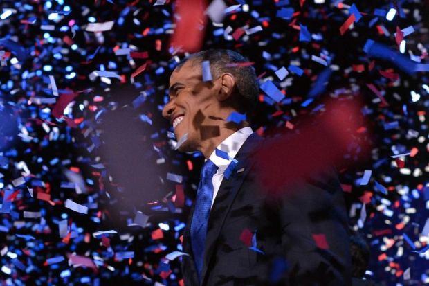 President Obama celebrates re-election