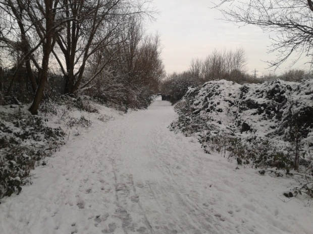 Snowy Path Hackney Marshes