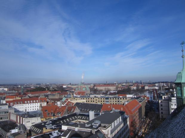 Copenhagen from the top of The Round Tower