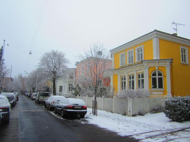 Snowy and quaint Frederiksstaden