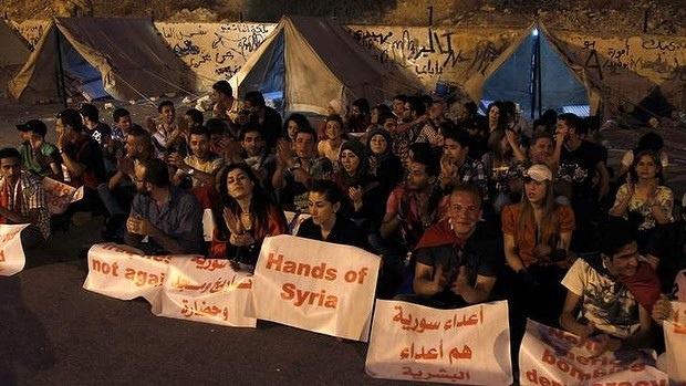 protestors syria