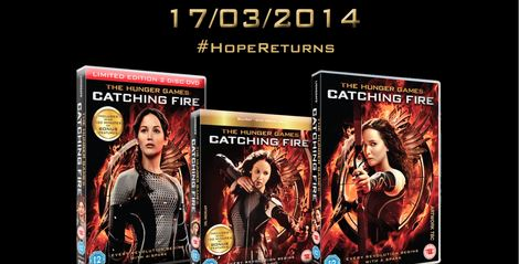 Catching Fire DVD Blue Ray